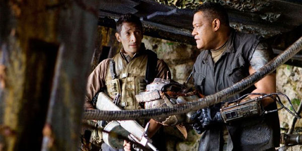 predators-Adrien Brody and Laurence Fishburne