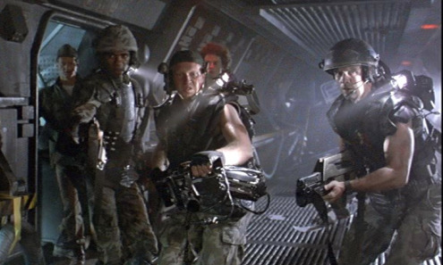 Aliens 1986 Gormon, Frost, Drake and Hicks