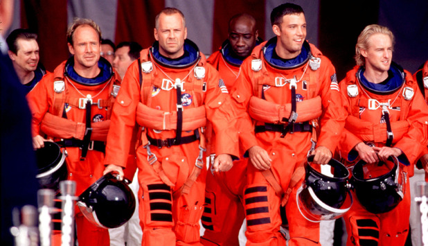 Armageddon movie Steve Buscemi, Bruce Willis, Michael Clarke Duncan, Ben Affleck and Owen Wilson