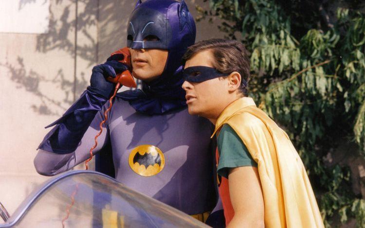 adam west batman-and-burt ward robin