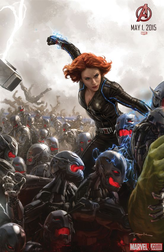 Black Widow Avengers Age of Ultron concept art