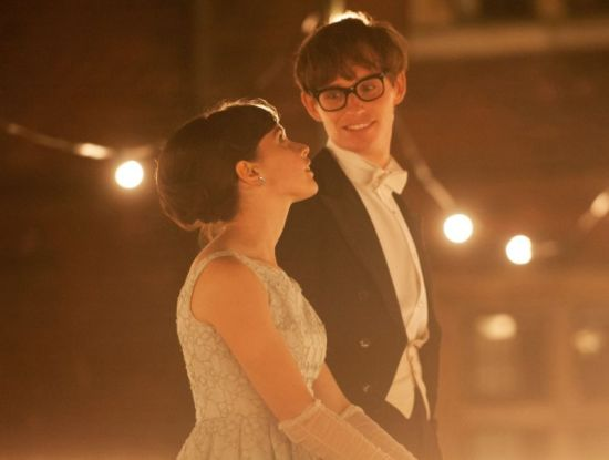 Eddie Redmayne and Felicity Jones in the Theory of Everything