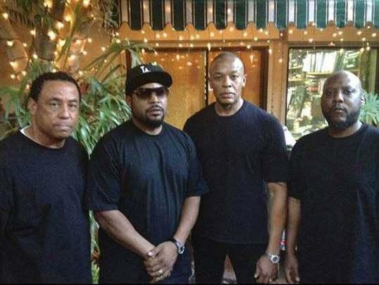 NWA - DJ Yella, Ice Cube, Dr. Dre and MC Ren 2014