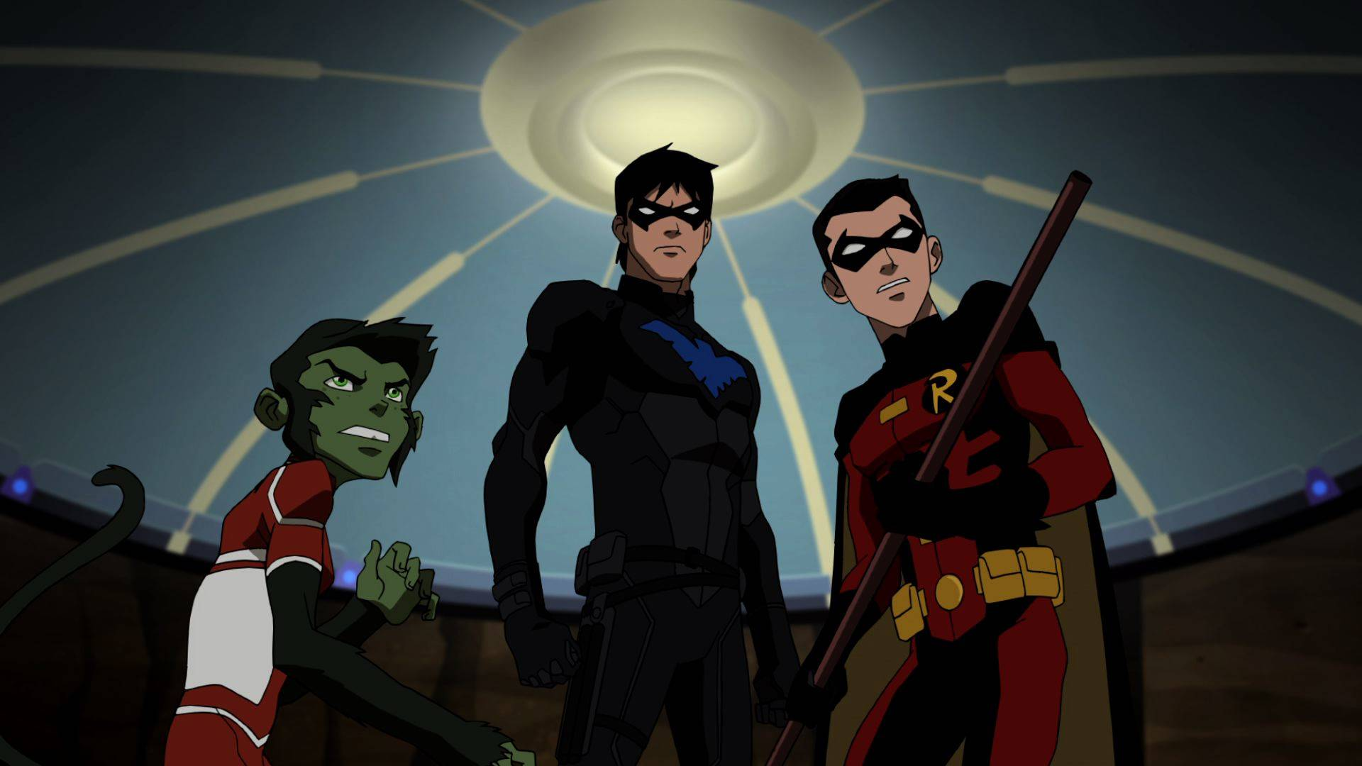 Young Justice - Beast Boy, Nightwing and Robin
