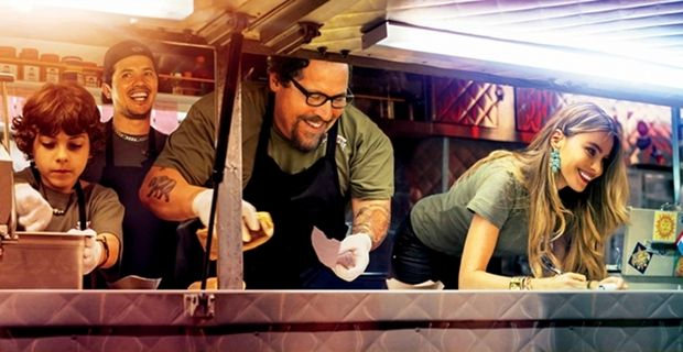 Chef-movie-Emjay Anthony, John Leguizamo, -Jon-Favreau-and-Sofia-Vergara