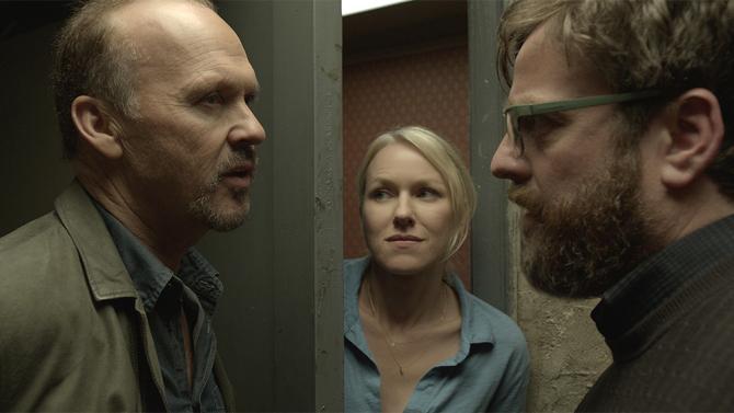 birdman-Michael Keaton, Naomi Watts and Zach Galiafinakis