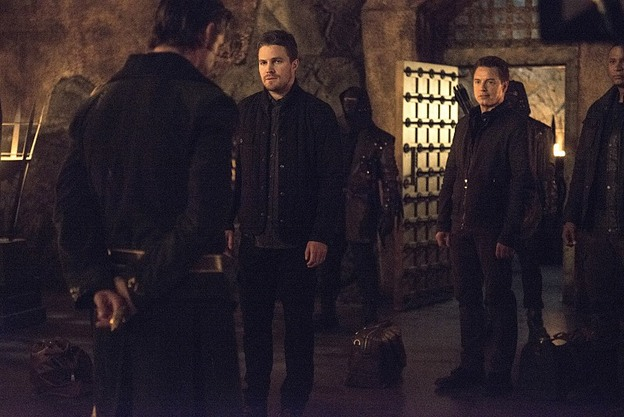 Arrow - The Fallen - Ra's with Oliver and Merlyn