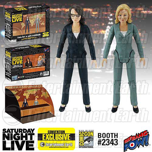 Tina Fey and Amy Poehler Saturday Night Live Weekend Update figures
