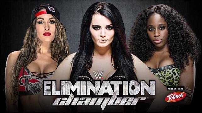 WWE Elimination Chamber 2015 - Nikki Bella vs Paige vs Naomi