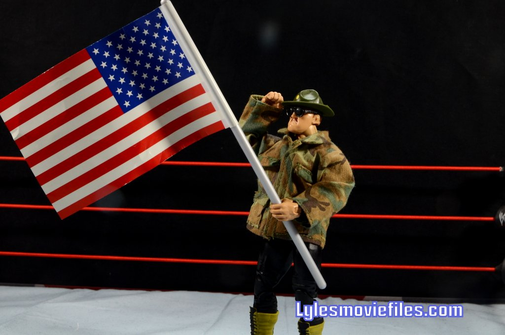 Sgt. Slaughter WWE Hall of Fame figure - with American flag