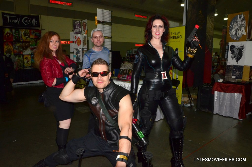 Baltimore Comic Con 2015 Cosplay Scarlet Witch Quicksilver Hawkeye And Black Widow Lyles Movie Files