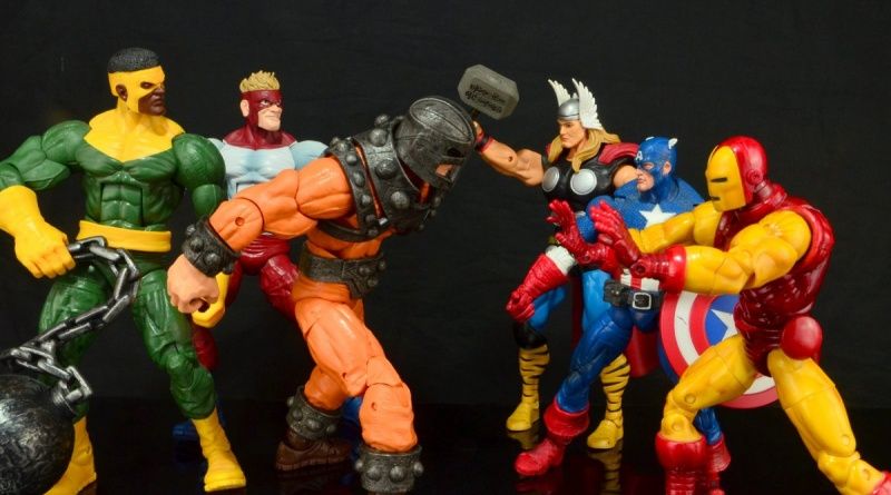 Marvel Legends Bulldozer review - Wrecking Crew vs Captain America, Thor and Iron Man