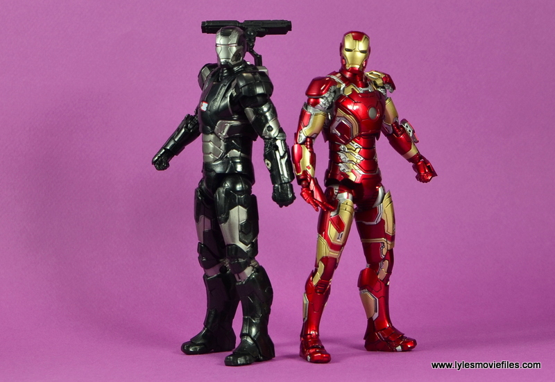 Marvel Legends Age of Ultron War Machine figure review - back to back with Iron Man