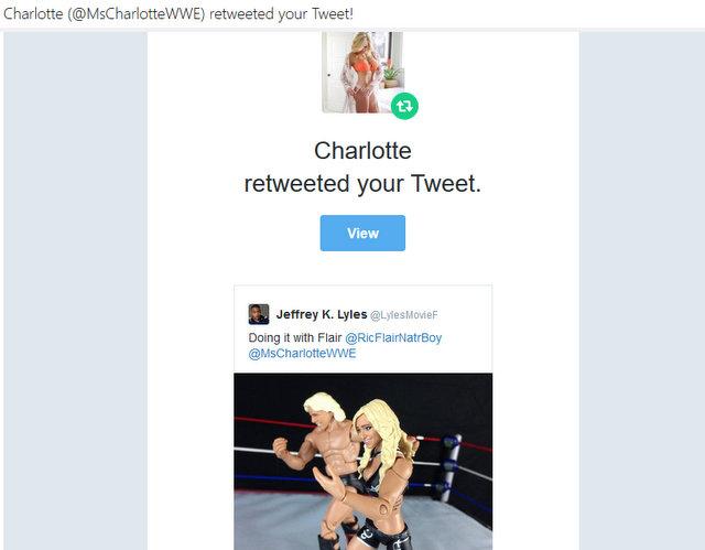 WWE Charlotte retweet