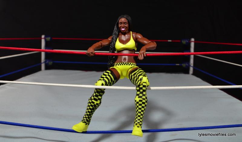 WWE Mattel Basic Naomi figure review -on ropes