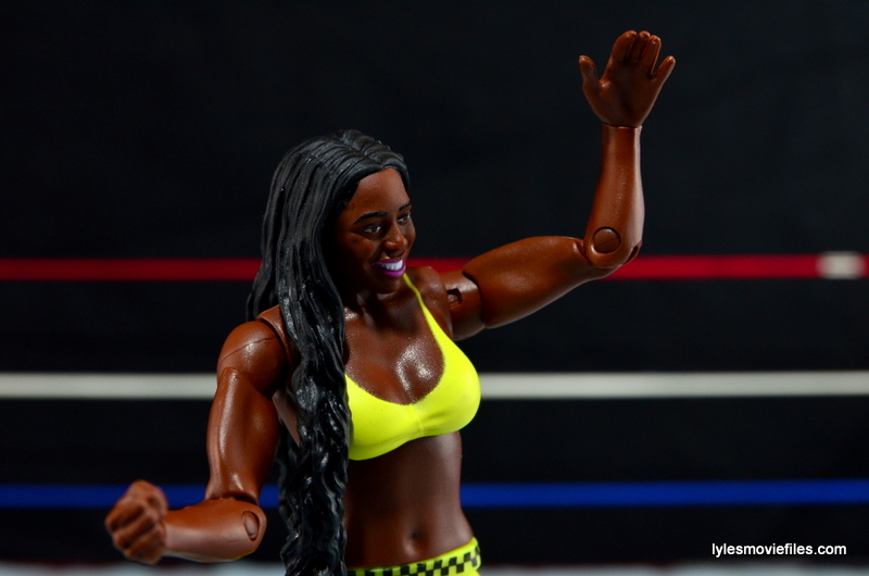 WWE Mattel Basic Naomi figure review -wide pic