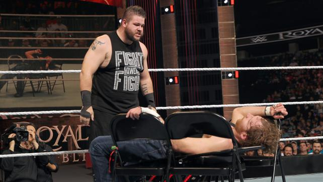 WWE Royal Rumble 2016 - kevin owens vs dean ambrose