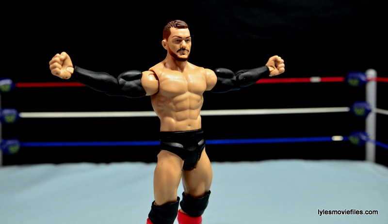 WWE Basic Finn Balor figure review -arms outstretched