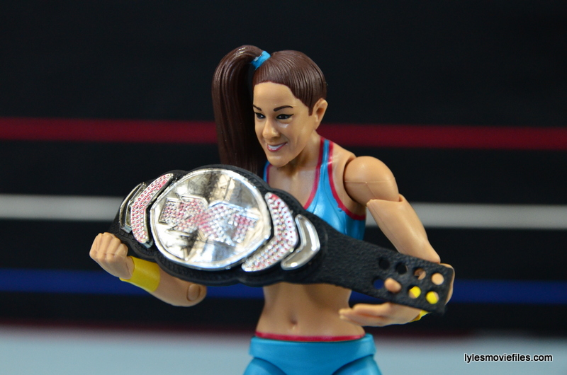 WWE Bayley figure review - holding NXT title
