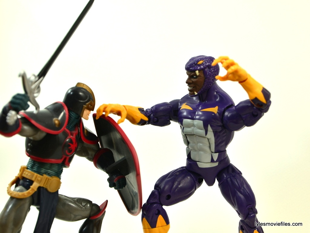 Marvel Legends Cottonmouth figure - fighting Black Knight