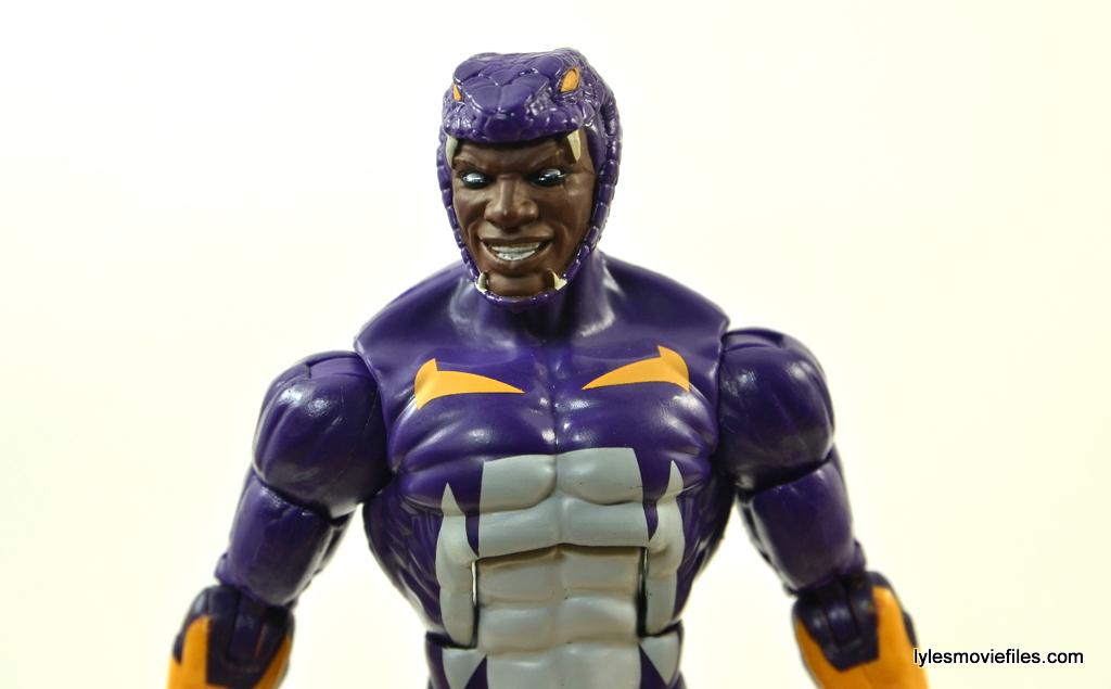 Marvel Legends Cottonmouth figure - headsculpt close up