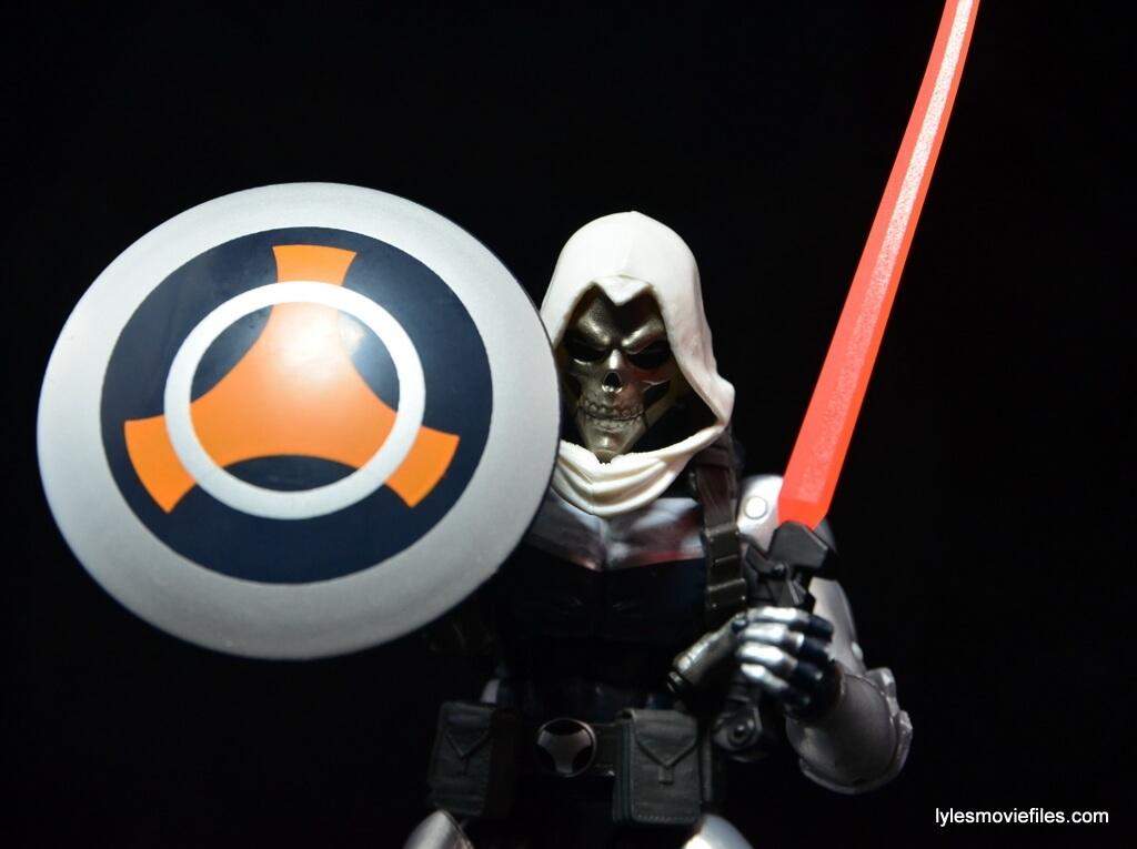 Marvel Legends Taskmaster figure -shield and sword up