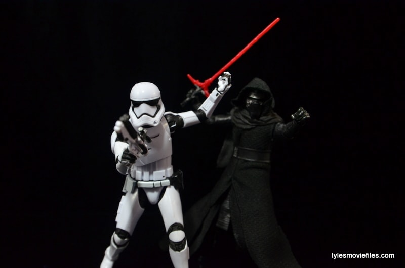 Star Wars The Force Awakens - The Black Series Stormtrooper review -with Kylo Ren-min