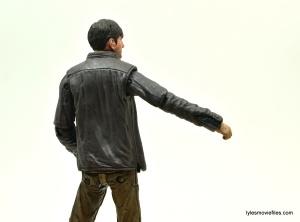 The Walking Dead Gareth figure review - rear jacket sleeve