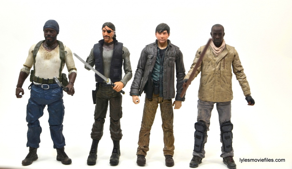 The Walking Dead Gareth figure review - scale with Tyrese, The Governor and Morgan