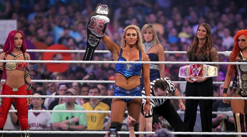 wrestlemania 32 - sasha banks, charlotte and becky lynch