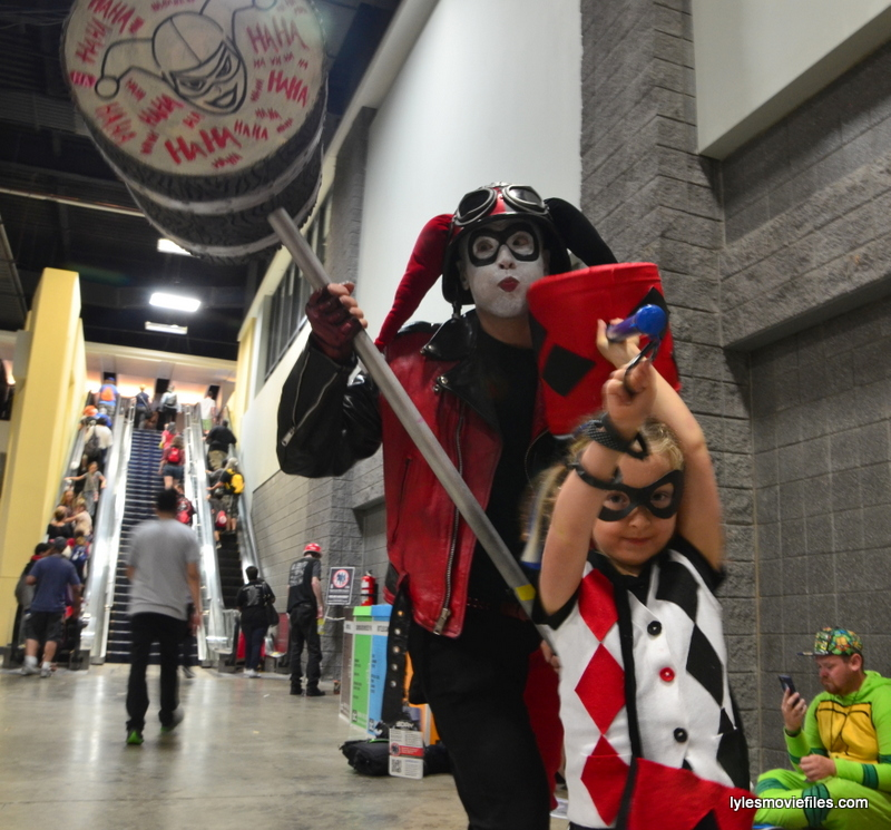 Awesome Con cosplay Day 2 -Dad and Lil Harley Quinn