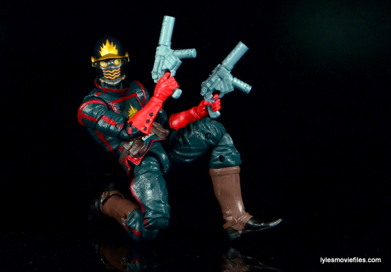 Guardians of the Galaxy Marvel Legends exclusive -Star-Lord guns up