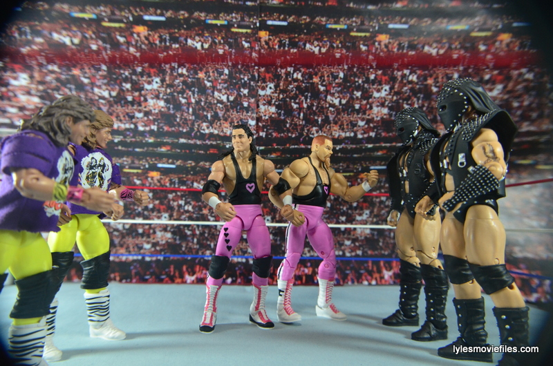 Christian Brothers Near Me >> WWE The Hart Foundation Elite 43 figure review Mattel | Lyles Movie Files