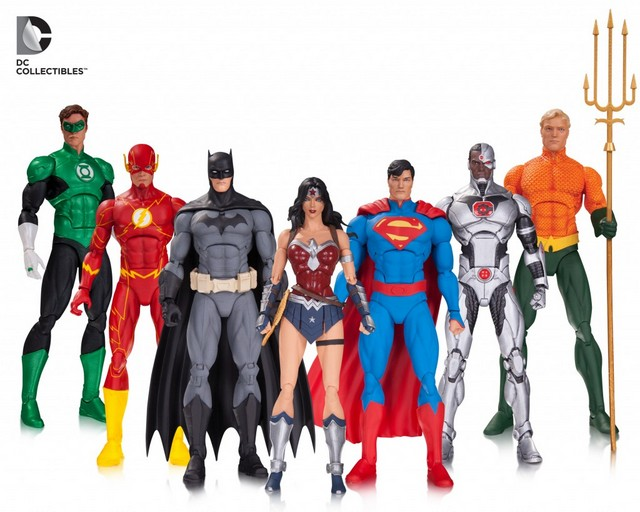 dc collectibles dc icons af justice league 7 pack