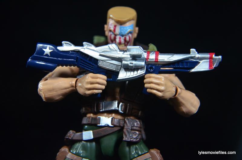 Marvel Legends Nuke review - gun closeup