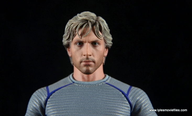 Hot Toys Quicksilver figure review - head close up
