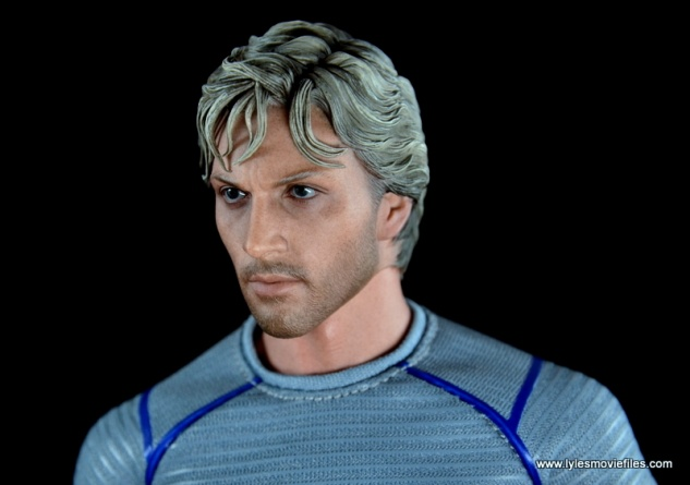 Hot Toys Quicksilver figure review - head profile detail