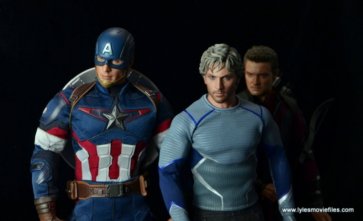 Hot Toys Quicksilver figure review - ready with Captain America and Hawkeye