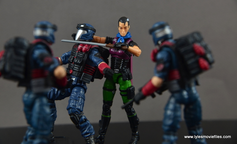 GI Joe Heavy Conflict Heavy Duty and Stiletto figure review - Stiletto vs Cobra Vipers
