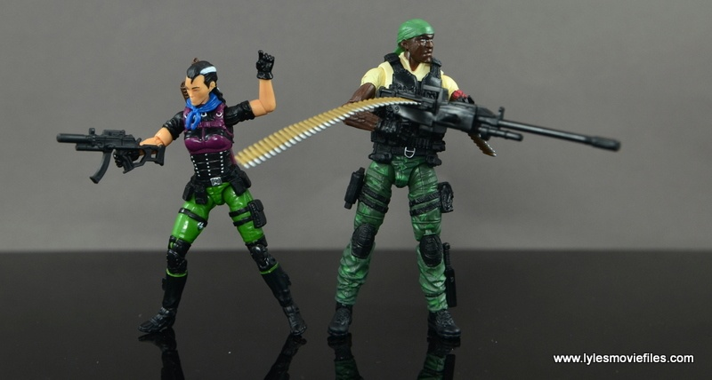 GI Joe Heavy Conflict Heavy Duty and Stiletto figure review - ready for battle