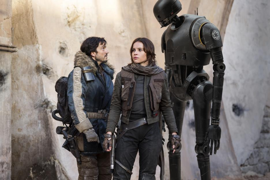 Rogue One A Star Wars Story review - Cassian Andor, Jyn Erso and K-2SO