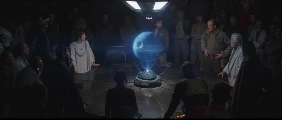 Rogue One A Star Wars Story review - Mon Mothma, Cassian Andor and General Draven