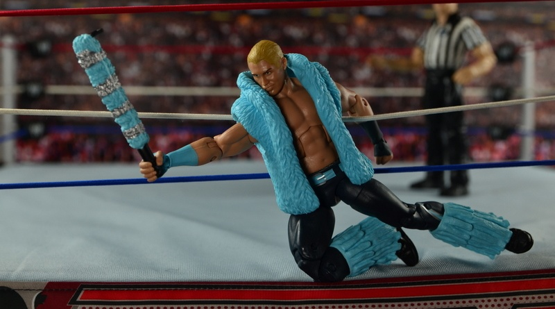 WWE Elite Tyler Breeze figure review - on the ring apron