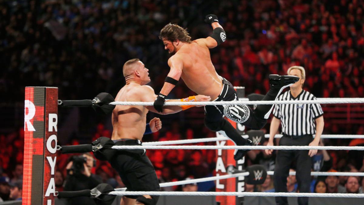 WWE Royal Rumble 2017 - AJ Styles vs John Cena