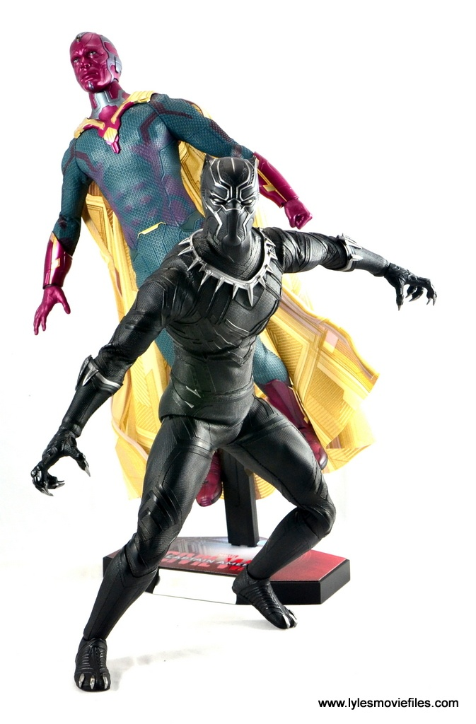 Hot Toys Black Panther figure review -with Vision
