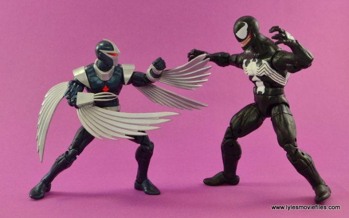 Marvel Legends Darkhawk figure review - vs Venom