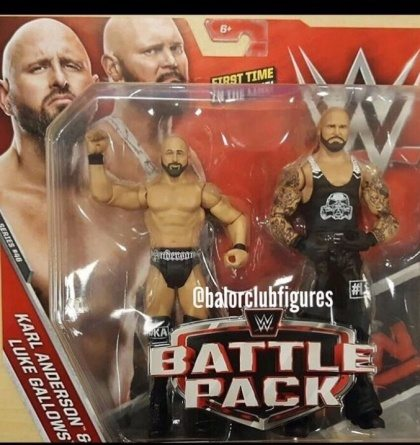 Bullet Club Karl Anderson and Luke Gallows The Club figures