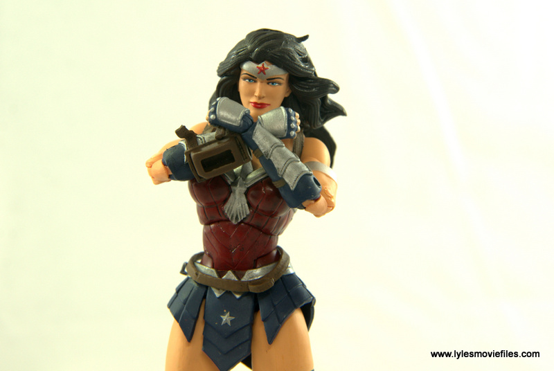 DC Icons Wonder Woman figure review - deflecting bullets