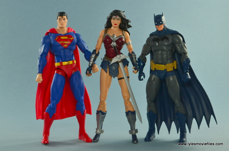 DC Icons Wonder Woman figure review -with Superman and Batman