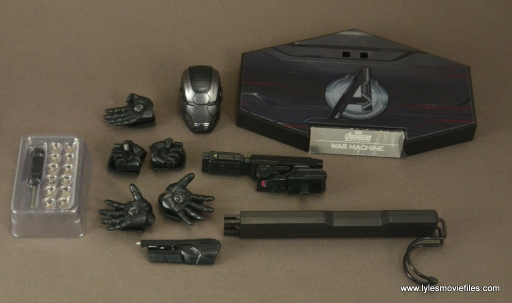 Hot Toys War Machine Age of Ultron figure review -accessories
